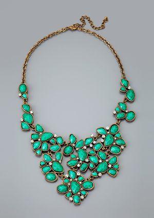 CARA COUTURE Floral Bib Necklace: Turquoi Necklaces, Cara Couture, Floral Bibs, Turquoise Statement Necklaces, Statement Jewelry, Pretty Necklaces, Peplum Dresses, Chunky Necklaces, Bibs Necklaces