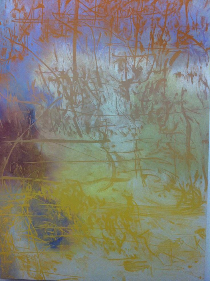 Raúl Illarramendi, EA n°126, 2013   Crayon couleur et gouache sur toile sur bois , 140 x 100 x 3,2 cm