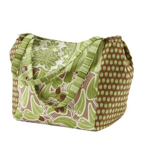 Sew up a spacious bag that has plenty of room inside -- including two pockets -- to hold keys, a notebook, a cell phone, a planner, and anything you need for an all-day outing.