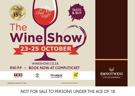 From the 23rd to the 25th October get down to Emnotweni in Nelspruit for The Wine Show! Guests will be treated to presentations such as the Lourensford Chocolate and Wine Pairing as well as Welgemeend – Bordeaux Blends paired with South African Desserts. Tickets are available from Computicket for R90 or at the door for R100. For more information visit www.emnotweni.co.za