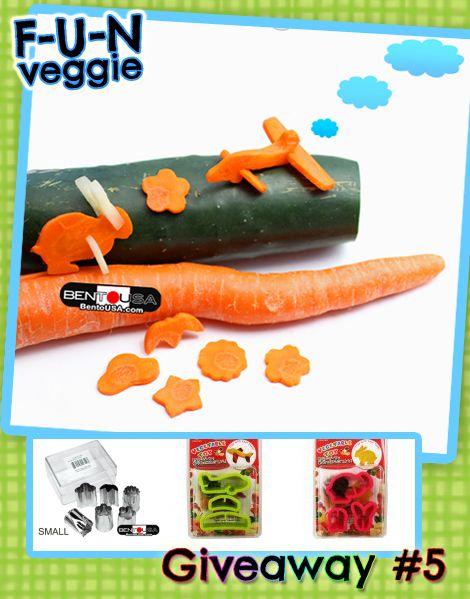 Fun Veggie cutter - Make Amazing Carrot & Cucumber shapes