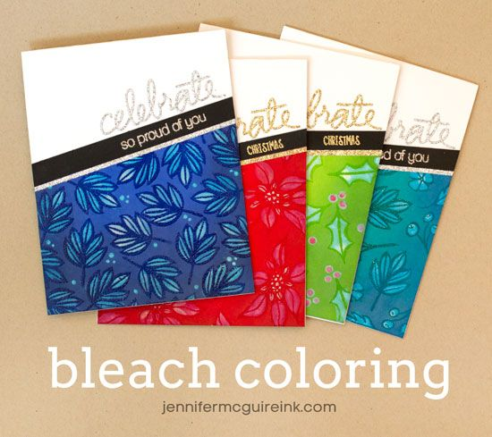 Video: Coloring with Bleach + Blog Hop + Giveaway | Jennifer McGuire Ink