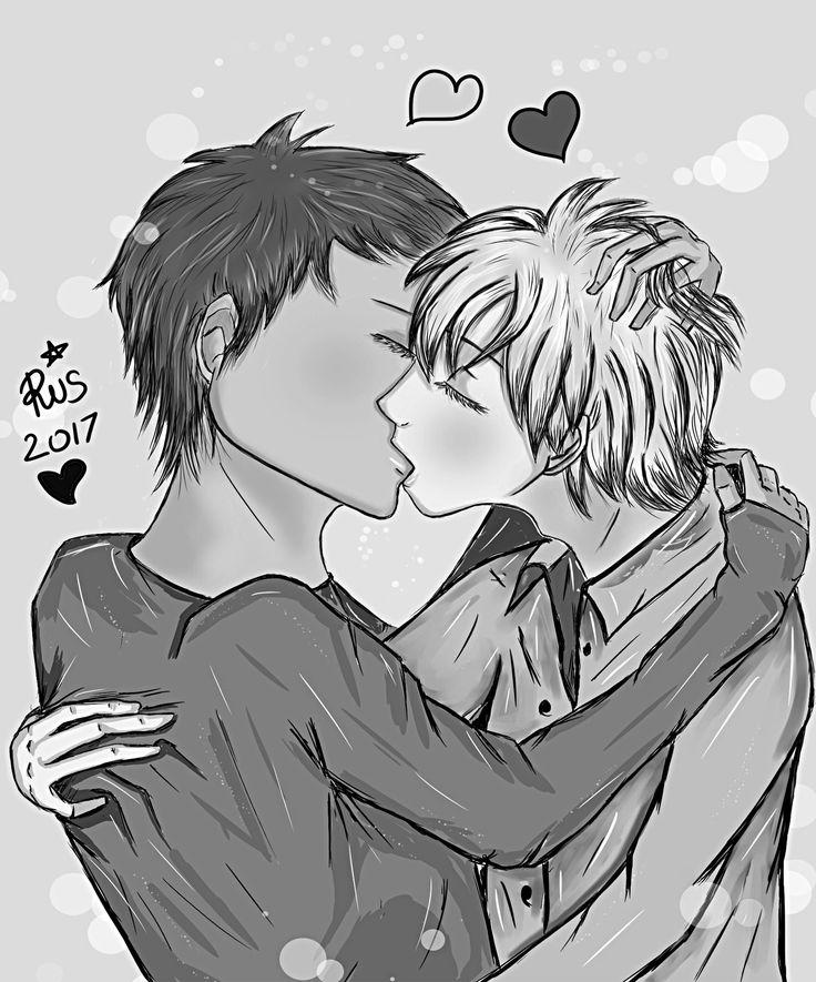 B&W kiss MyDigitalArt by RisB