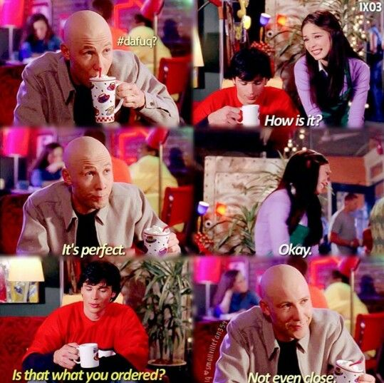 """Not even close"" - Lex, Clark and Lana #Smallville. This scene was so funny! Michael Rosenbaum was the best cast Lex... Ever."