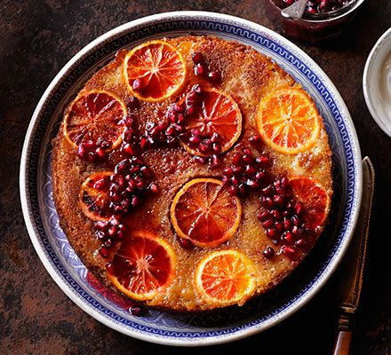 This stunning fruity bake has a whole orange whizzed into the batter, and is drizzled with a zingy, sticky syrup