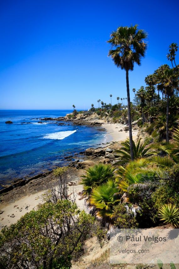 Laguna Beach Print Orange County California Large Wall Art Etsy Laguna Beach California Laguna Beach California Beach