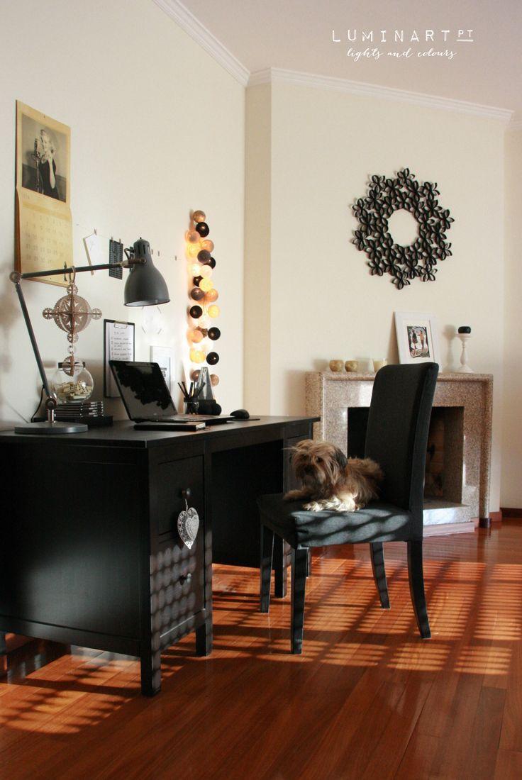 Workpace and our little Helper ♥ | #Luminart lights at www.luminart.pt