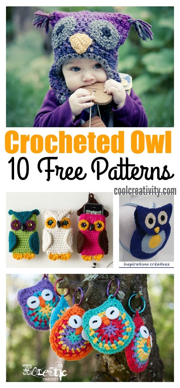 10 Free Crocheted Owl Patterns