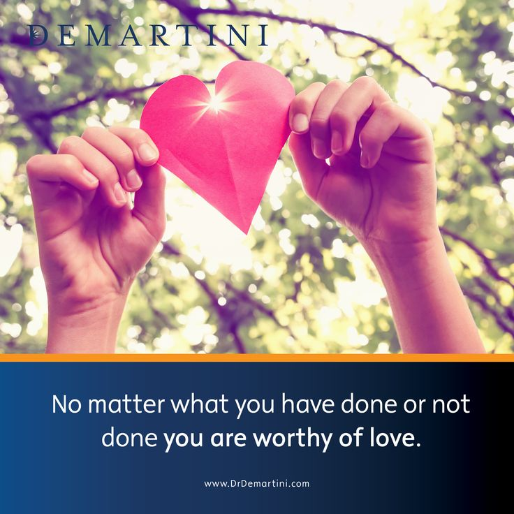 No matter what you have done or not done, you are worthy of love. Dr John Demartini www.DrDemartini.com www.Facebook.com/...