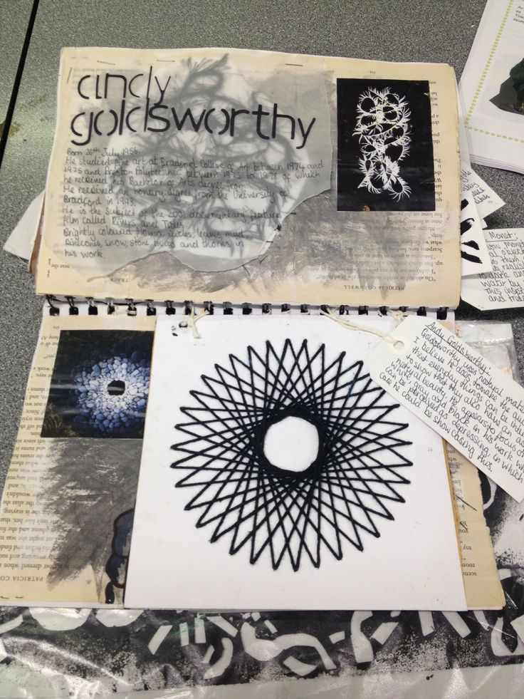 Artist research-Andy Goldsworthy AS sketchbook