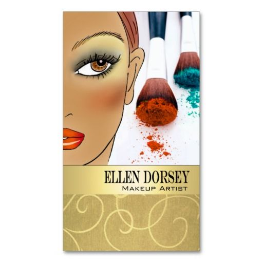 "Personalize this dramatic, illustrated ""Makeup Artist IV-c"" profile card by <i>Stylish Business Cards</i> with your own text using the ""Customize It"" section to your right.  <br/><br/> Click <a href=""http://www.zazzle.com/stylishbusinesscards"" rel=""nofollow""><font color=""CB0E01""><b>here</a></b></font> to see more of my customizable business cards.  ""Makeup Artist IV-c"" is an original design created by Cheryl Daniels © 2010.  If you have questions, need help customizing this card or want…"