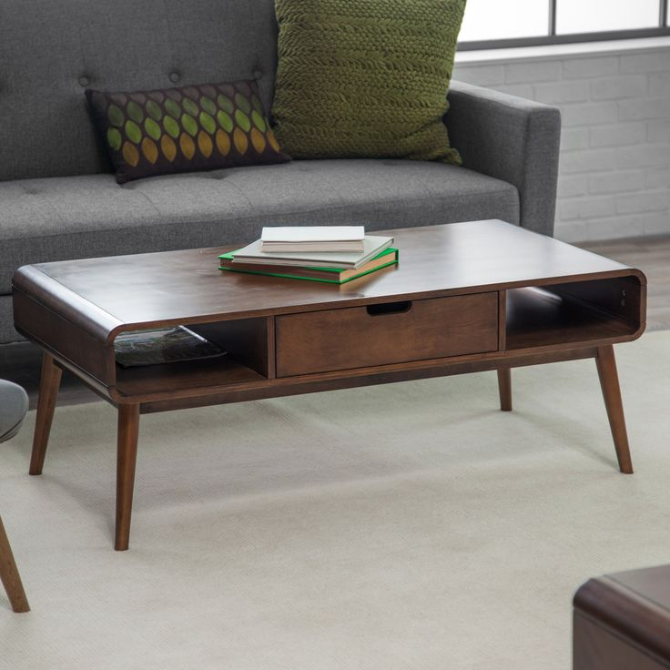 Belham Living Carter Mid Century Modern Coffee Table Coffee Tables At Hayneedle