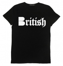 B-side British Mens tee black with white  £30.00