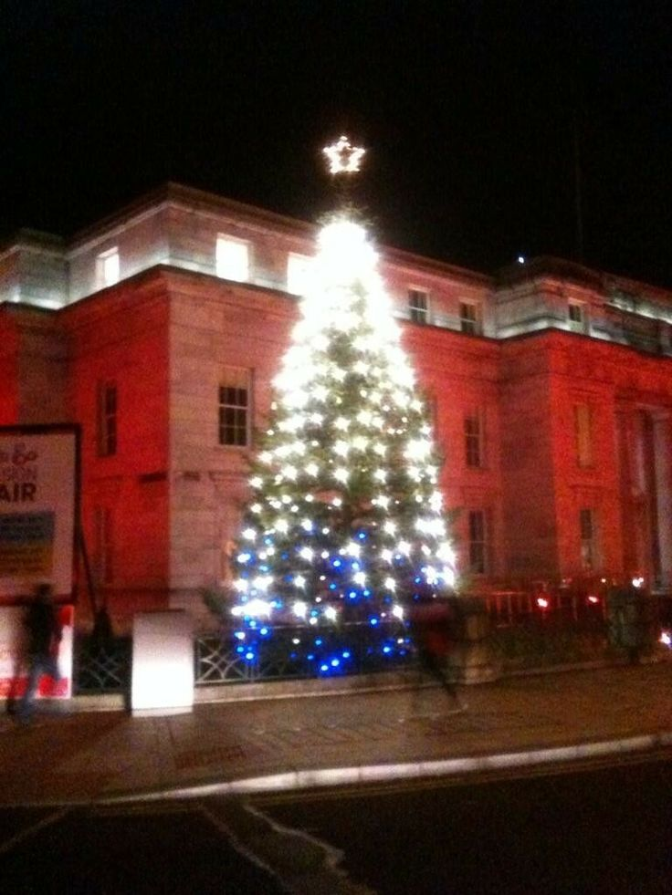 Christmas tree outside Cork City Hall. Tweeted by @The Gathering Ireland