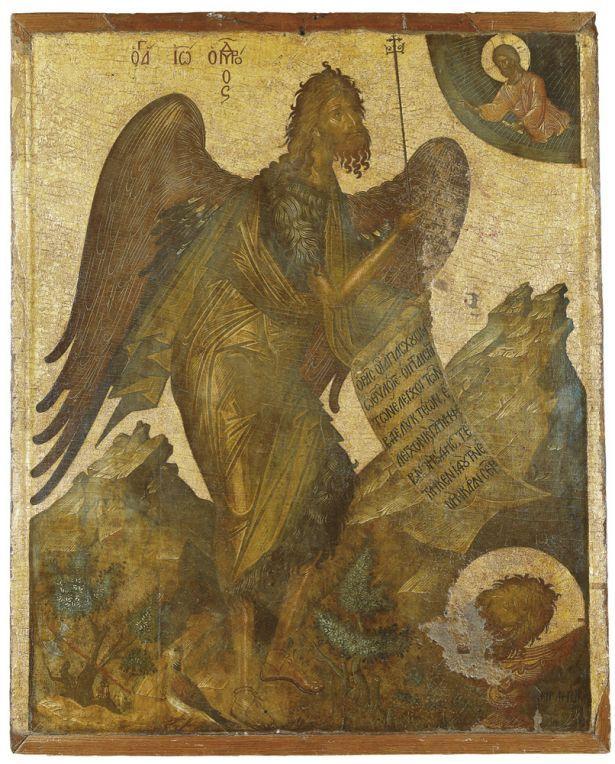 Angelos Akotantos ~ Icon of St John the Baptist, c. 1st half 15th century