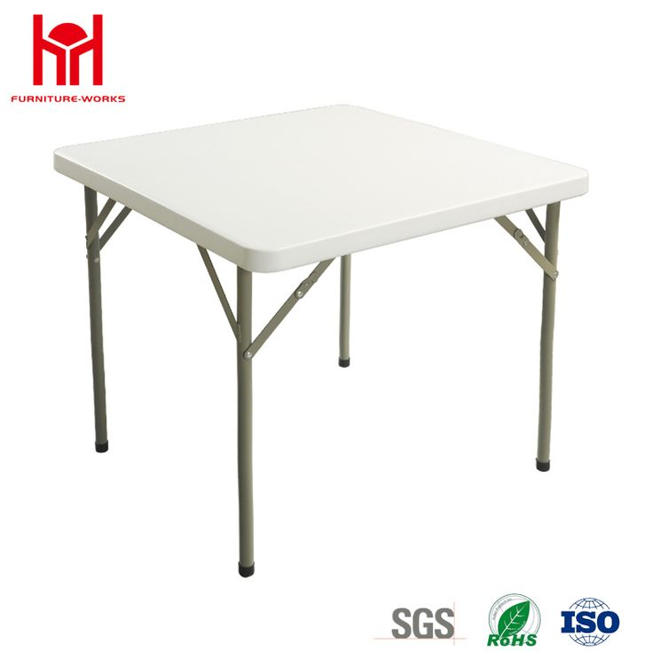 Granite White Square Folding Table #foldingtable