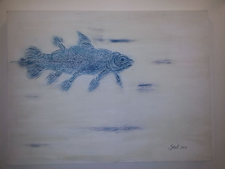 Coelacanth painting 3D - by Shell Shaw