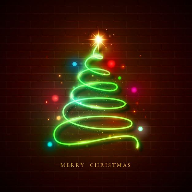 Download Christmas Tree Concept With Neon Design For Free In 2020 Neon Design Wallpaper Iphone Christmas Neon