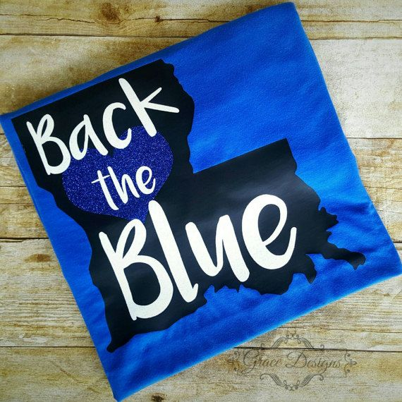 Check out this item in my Etsy shop https://www.etsy.com/listing/501986282/back-the-blue-tshirt-support-police