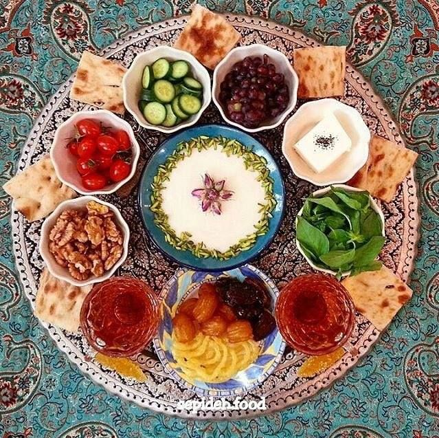 A feast of Iranian snacks and Persian delicacies