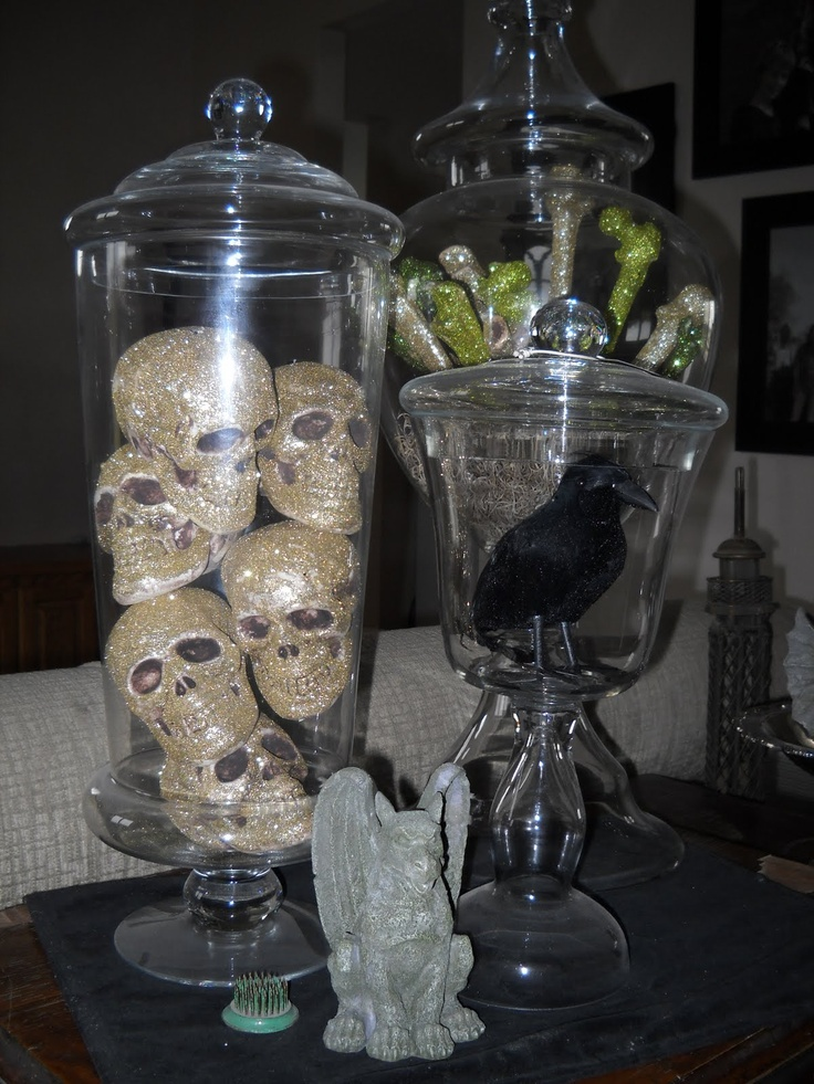 Crazy Domestic: Apothecary Jars, Halloween Style