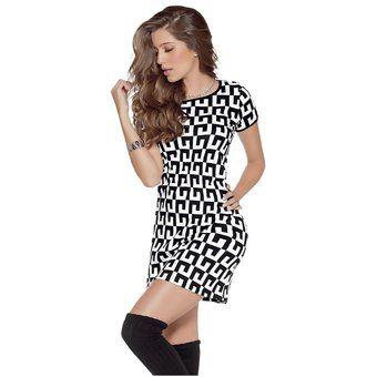 Vestido Adulto Femenino Marketing Personal 52933 Negro