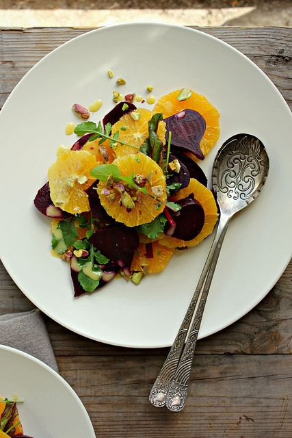 beetroot + orange salad w/ honey mustard miso dressing by My Darling ...