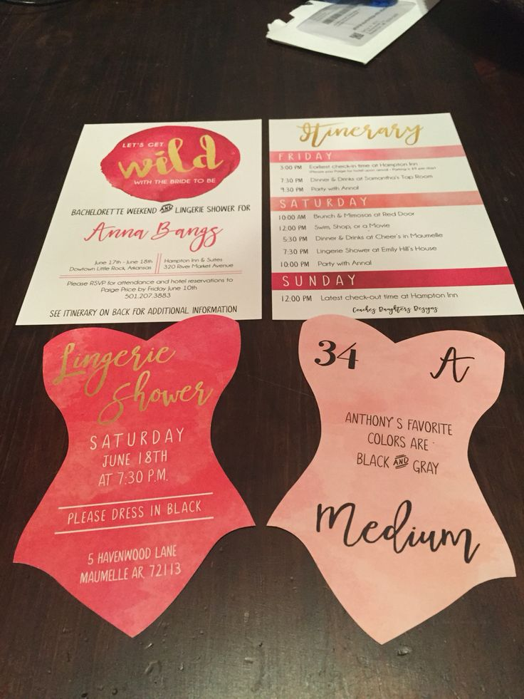 Coaches Daughters: Let's Get Wild with the Bride to be! Pink Black and Gold Watercolor Invitation Set. Lingerie Shower Invitations. Bachelorette Weekend. Kate Spade  www.coachesdaughters.com