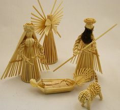 Hungarian Straw Nativity