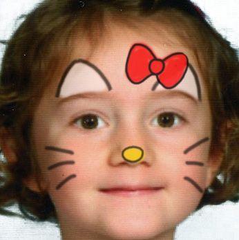 Simple Hello Kitty Mask.