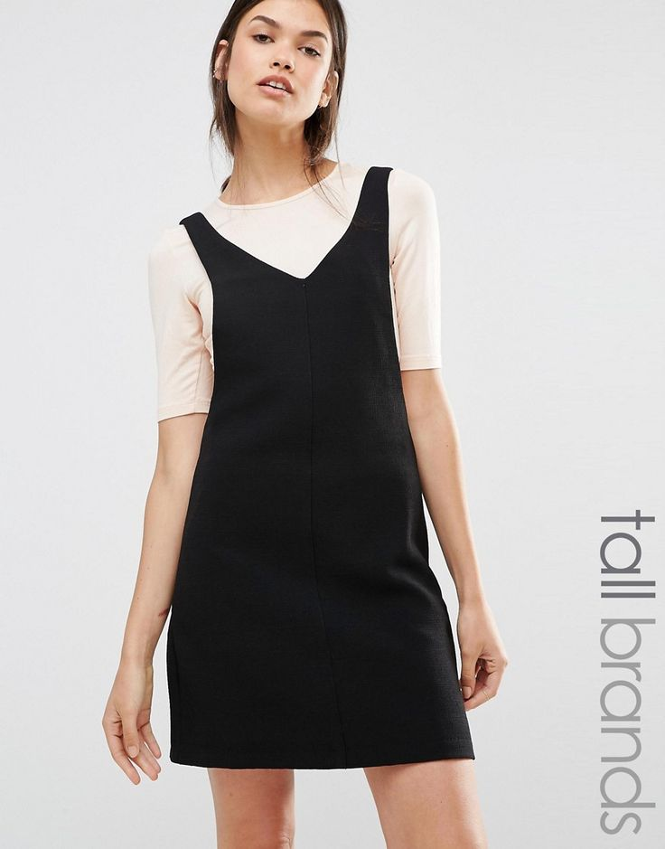 Image 1 of New Look Tall Pinny Dress