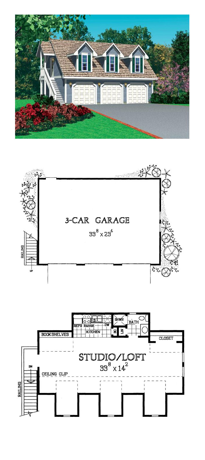 1000 images about garage apartment plans on pinterest 3 for Garage with living space