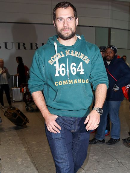 Star Tracks: Wednesday, February 4, 2015 | GRIN & BEAR-D IT | Batman v Superman actor Henry Cavill chooses a furry look for a flight arriving in London on Wednesday.
