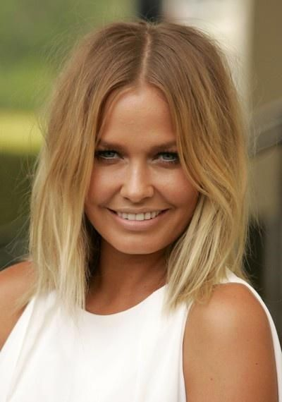 Blonde ombre short hair