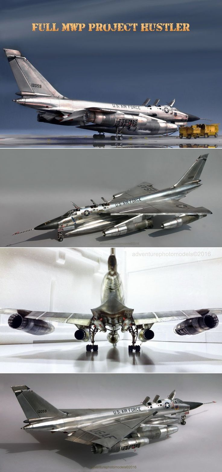 "Convair B-58 ""Hustler"" Full MWP (Metal Work Panels) Studio - Revell/Monogram kit 1:48 scale model based (2015)"
