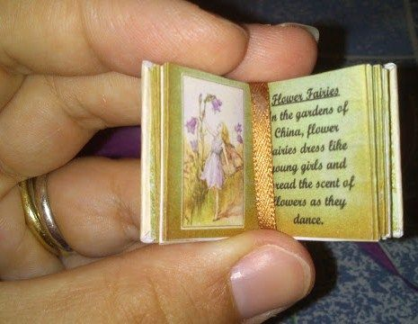 Miniature Printables - How to: Tiny printable fairy book.