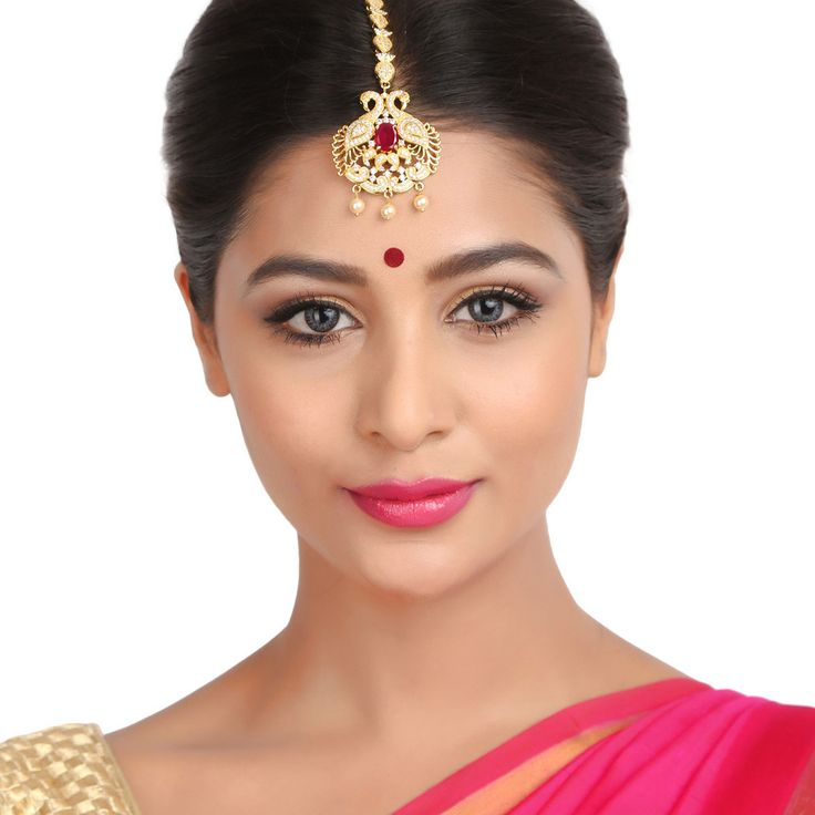 Zircon Tikka 56981 #Kushals #Jewellery #FashionJewellery #IndianJewellery  #WeddingAccessories #Maang Tikka #Zircon