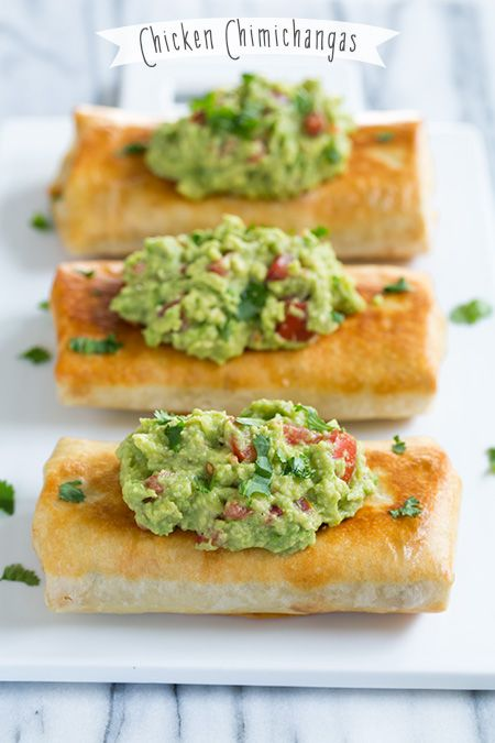 Chicken Chimichangas - these are the ultimate comfort food! They can also be baked instead of fried.