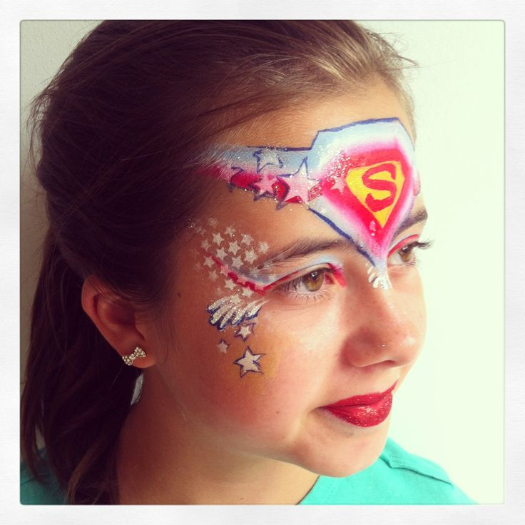 Super girl face paint
