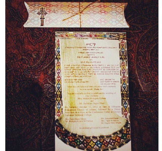 Ethiopian Wedding Invitation Ideas