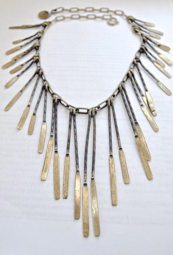 Calder Modernist Abstract Brutalist Necklace by Scandimania