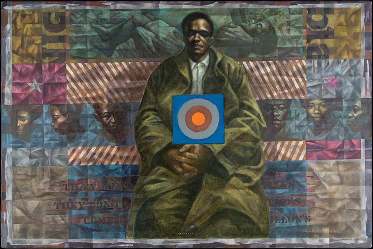 Blanton Museum receives key works by celebrated American artist Charles White; Homage to Sterling Brown, 1972. Oil on canvas, 40 x 59 in. Blanton Museum of Art, The University of Texas at Austin. Susan G. and Edmund W. Gordon Family Collection.