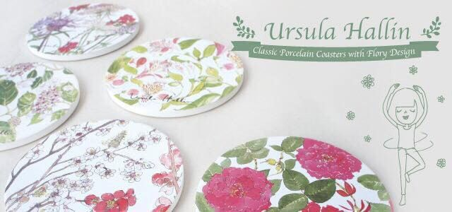 Classic Flowery Coaster Made By Fine Porcelain by OpheliaHamletArt on Etsy https://www.etsy.com/listing/227813361/classic-flowery-coaster-made-by-fine