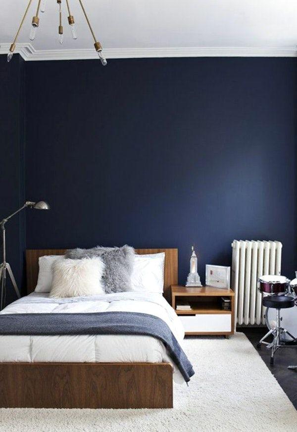 Peinture Bleu Marine Chambre Avec Decoration Nuit Et Or ...