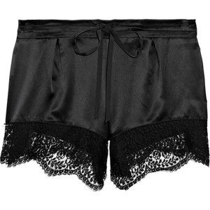 Lover lace trimmed silk shorts