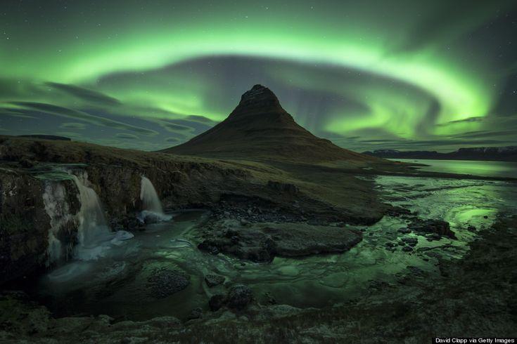 Mount Kirkjufell near Grundarfjörður, in western Iceland. David Clapp via Getty Images