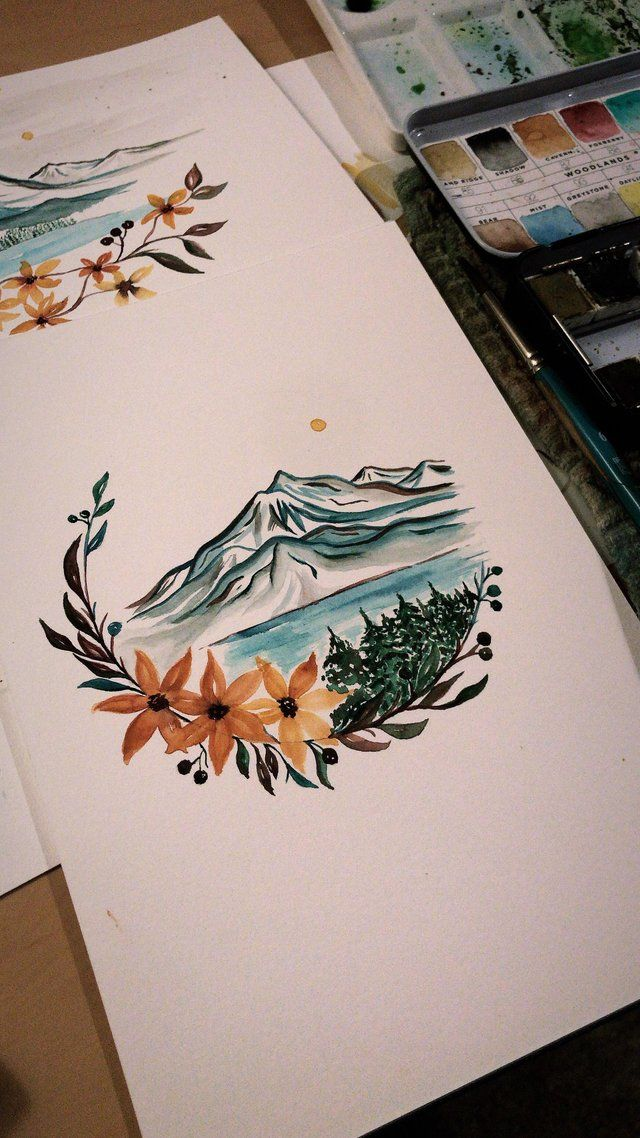 I Ve Been Loving This Color Scheme Lately Watercolor Color