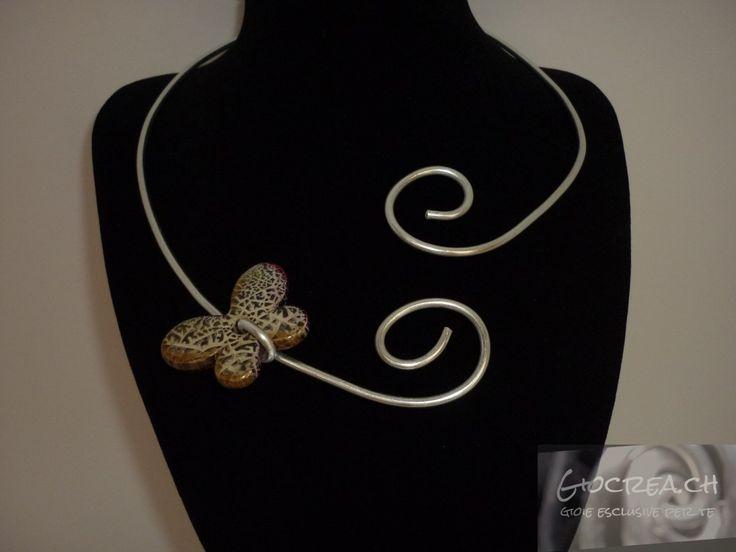 Collier farfalla maculata