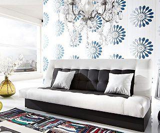 DELIFE Couch Bulgur Weiss Schwarz 182x81 Schlafsofa Mit Bettkasten 379u20ac