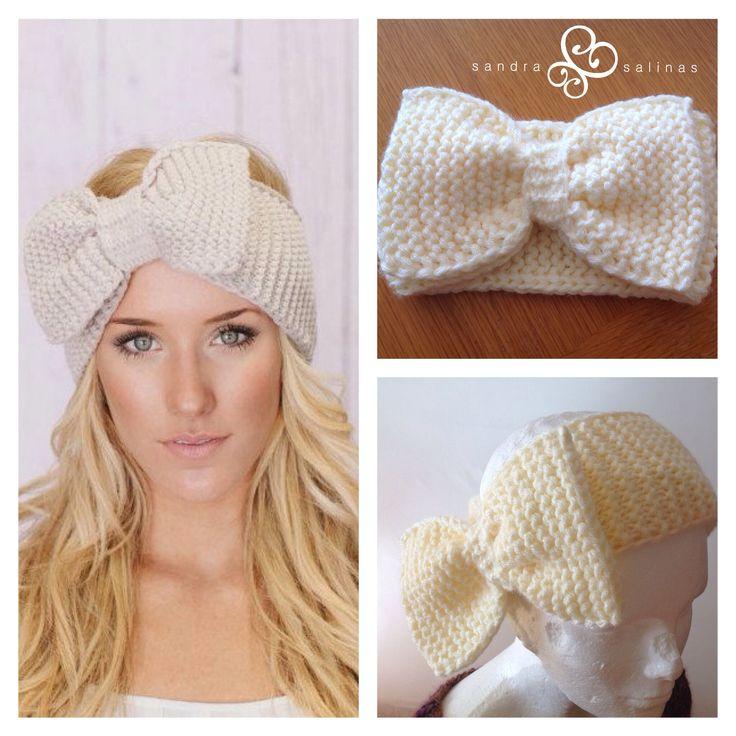 Diadema tejida con mo o tejidos pinterest crochet - Diademas a crochet ...